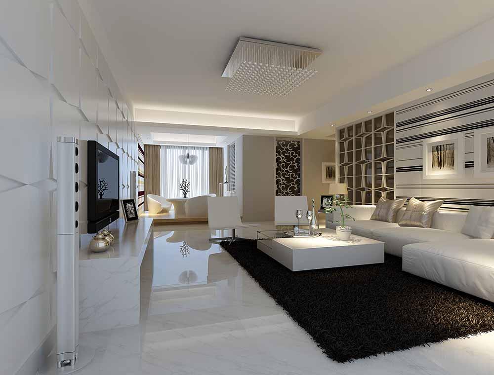 装修美图 现代简约风客厅设计效果图  免费户型设计 3家优质装修公司