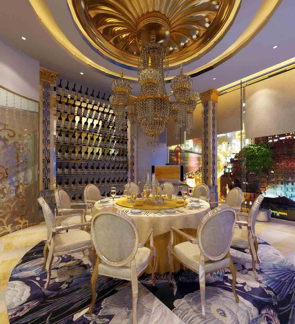 装修美图 欧式奢华餐厅装修设计  免费户型设计 3家优质装修公司免费