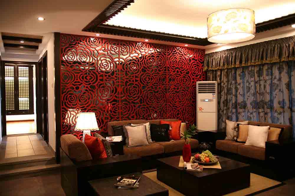 2015中式现代客厅装修效果展示