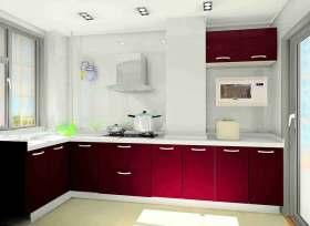 鲜亮现代风格厨房装潢