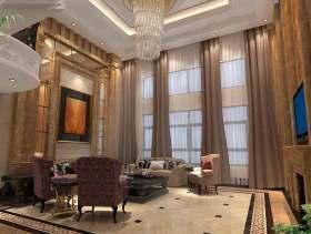 高端欧式别墅客厅装修效果