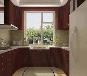 2015美式圆角厨房装潢设计