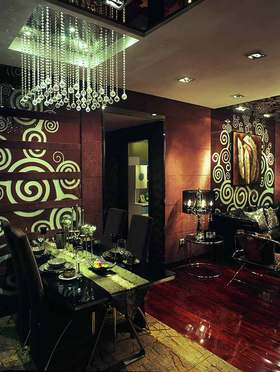 时尚奢华新古典风格餐厅装潢