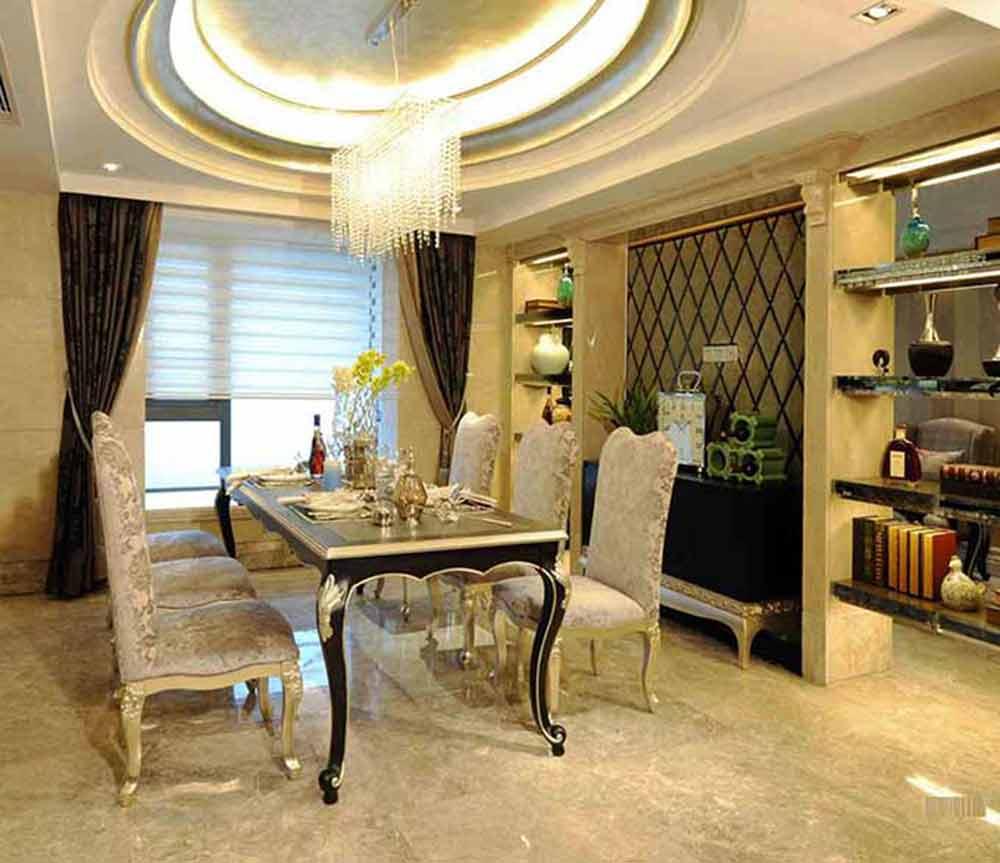 新古典主义风格奢华欧式餐厅设计