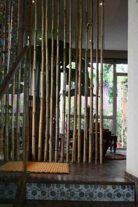 中式自然风格玄关装修欣赏