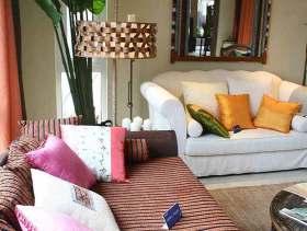 彩色东南亚风格客厅装修图片