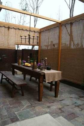 中式庭院式阳台设计