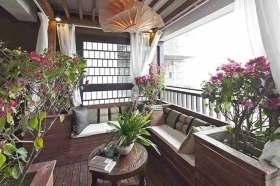 闲适东南亚风格阳台装潢案例