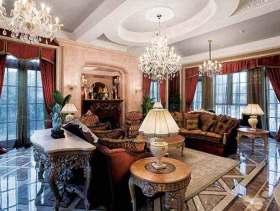 华丽欧式客厅温馨设计