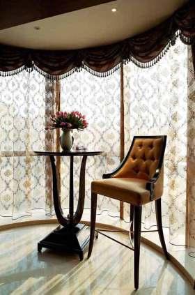 欧式风格半透明窗帘装饰设计