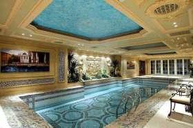 豪华舒适欧式泳池设计