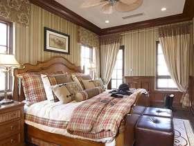 2015温馨美式卧室装修效果图