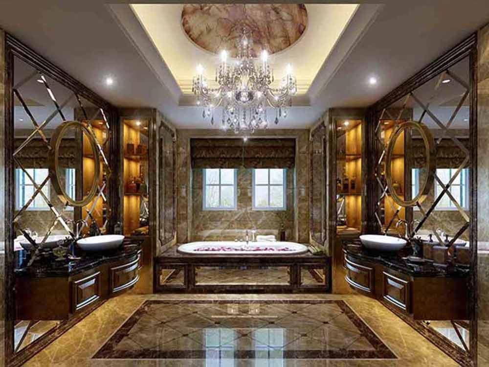 欧式豪华别墅卫生间设计