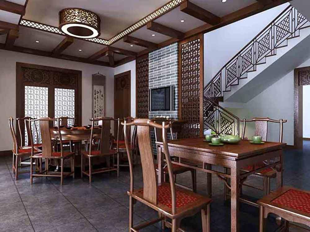2015中式传统风格餐厅装修效果图