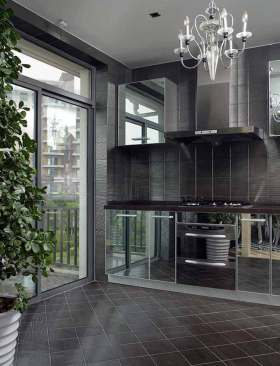 现代设计厨房装潢效果图