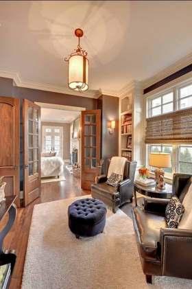 美式风格温暖大方休息室设计效果