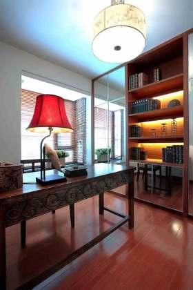 中式简约清爽书房装修欣赏
