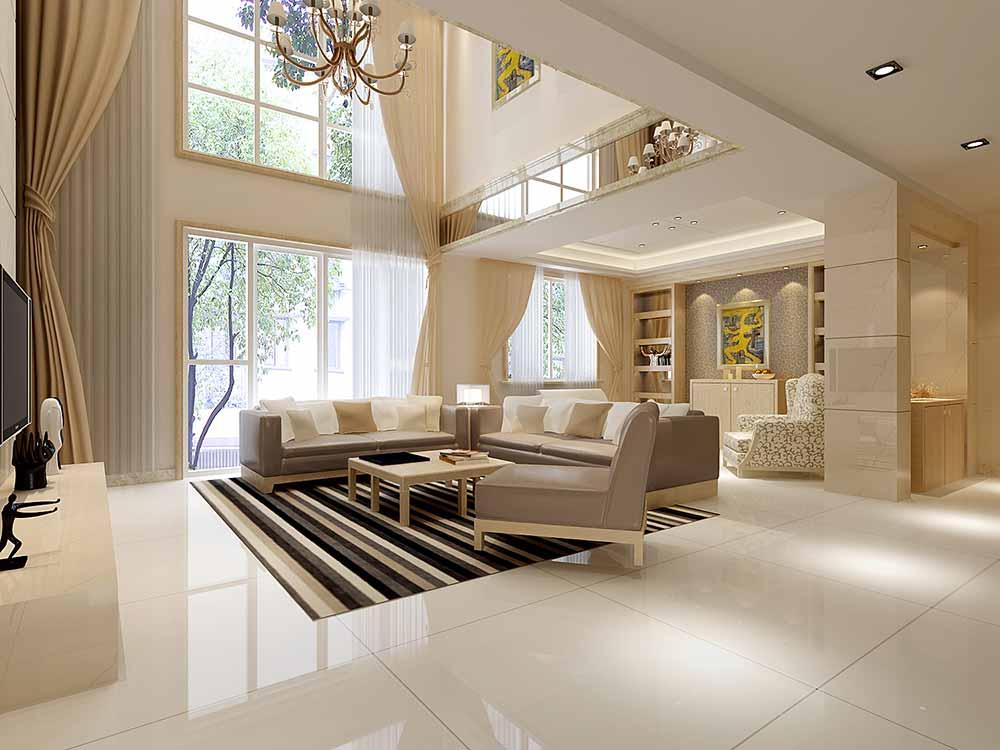 装修美图 现代米色简洁客厅装修效果图  免费户型设计 3家优质装修