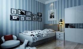 蓝色地中海卧室设计