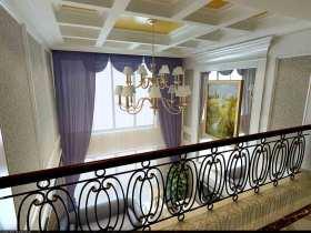 新古典蓝色窗帘装潢布置