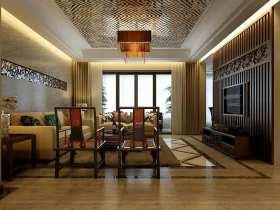 新古典线条流畅客厅吊顶欣赏