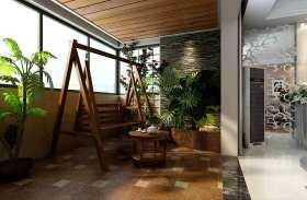 简约绿色阳台装潢