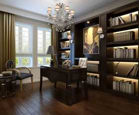 2015灰色东南亚风格书房设计图