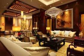 2015紫色东南亚风格客厅设计图