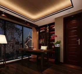 紫色儒雅2015中式风格书房欣赏