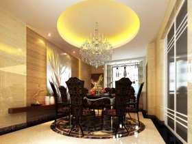黑色典雅新古典风格餐厅设计效果图
