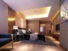 白色大气新古典风格卧室装修美图