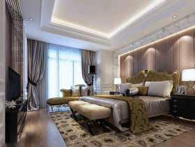 粉色华丽欧式风格卧室装修效果图