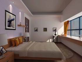 白色大气简约风格卧室设计效果图