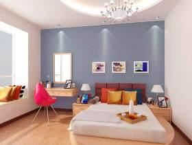 彩色活泼简约风格卧室装修美图