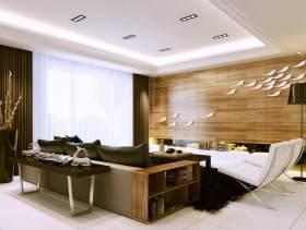 原木色时尚现代风格卧室装潢设计图