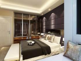 紫色大气现代风格卧室装修美图