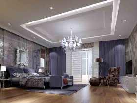 紫色唯美现代风格卧室装修美图