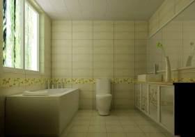 田园风格清新卫生间装修设计