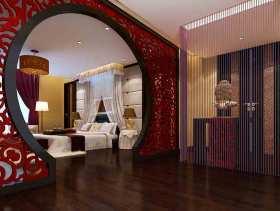 中式红色喜庆新房装修效果图