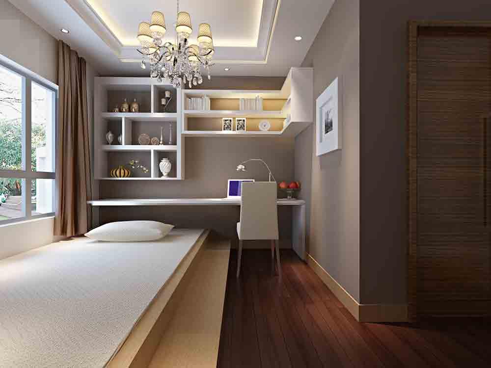 装修美图 现代简约日式卧室装修效果图  免费户型设计 3家优质装修
