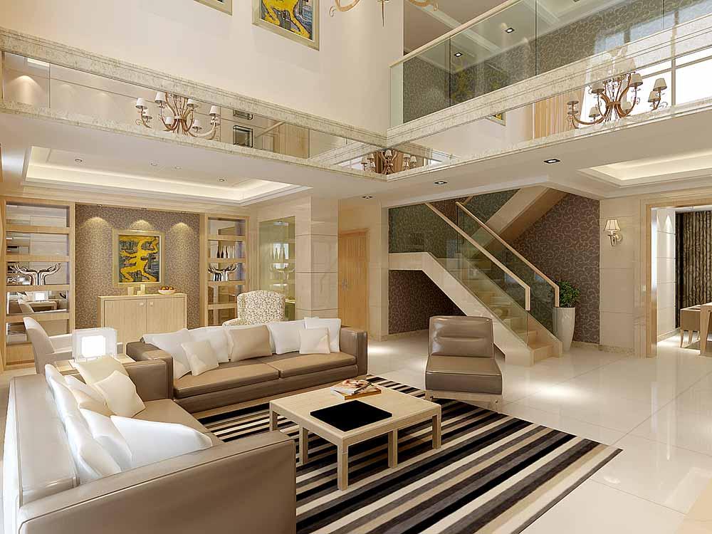 现代简约别墅客厅装潢