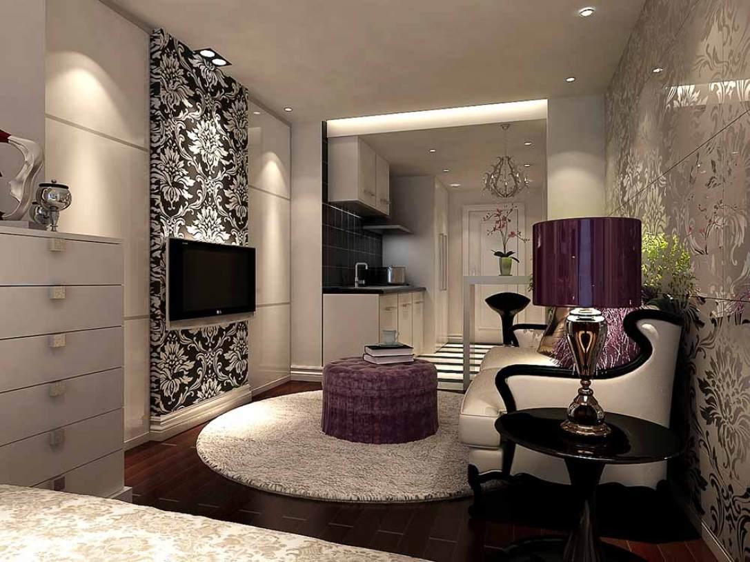 现代简约公寓客厅装修效果欣赏