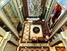 别墅简欧现代客厅装修效果图