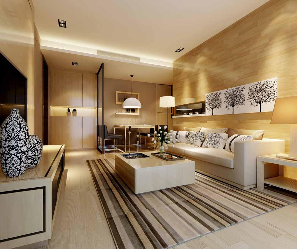 现代简约家居客厅室内设计效果图