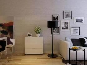 2015白色系现代简约照片墙装修效果图