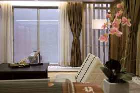 原木色田园风格窗帘装饰设计