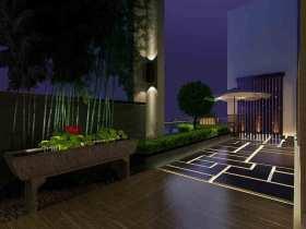 黑色中式古典大阳台设计图片大全