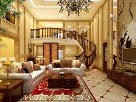 白色欧式复式客厅美图鉴赏