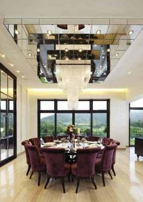 新古典风格华美别墅大型餐厅装潢设计