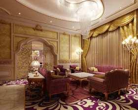 优雅浪漫欧式客厅精致设计图片欣赏